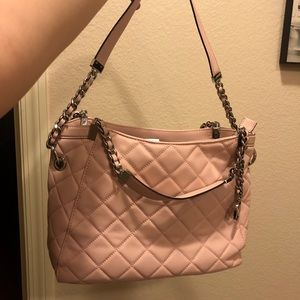 MICHAEL KORS Pink SUSANNAH QUILTED bag